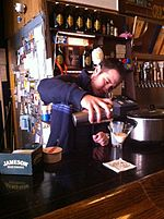 Pacific Standard owner preparing Santorum cocktail drink 04.JPG