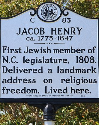 Beaufort, North Carolina - Plaque in front of the Jacob Henry House, 229 Front Street