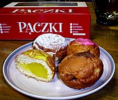 Assorted Paczki Commercially Produced Near Detroit