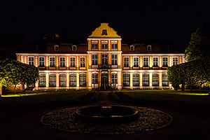Abbot's Palace (Oliwa) - Night view of the palace.