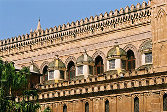 Palermo Cathedral - The Baroque small side cupolas by Ferdinando Fuga.