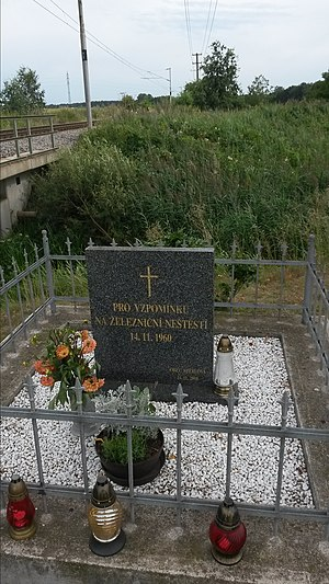 Stéblová train disaster - Image: Památník železniční nehody u Stéblové 3