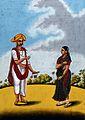 Pandit Tudu and his wife. Gouache drawing. Wellcome V0045343.jpg