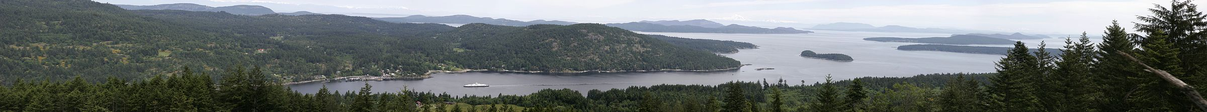 Panorama of Fulford Harbour, Salt Spring Island