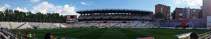 Panoramic view of Estadio de Vallecas