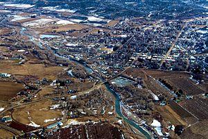 Paonia, Colorado - Aerial photo of Paonia, 2009
