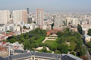 Parc de Choisy urban park in Paris, France