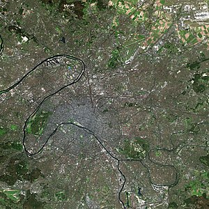 Paris by SPOT Satellite