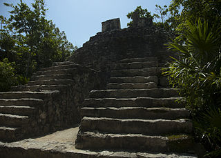 Xcaret Maya civilization archaeological site on Yucatán Peninsula