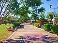 Pasillos del parque principal, Bacalar. - panoramio.jpg