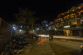 Patan Durbar Square at night-IMG 4161.jpg