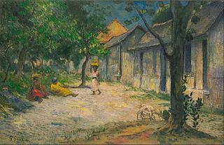 Village in Martinique (Femmes et Chevre dans le village)