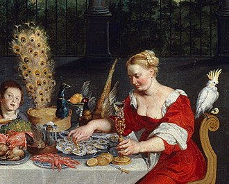 Sense - Detail of The Senses of Hearing, Touch and Taste, Jan Brueghel the Elder, 1618