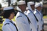 Pearl Harbor Survivor Theodore F. Roosevelt ashes placed aboard USS Utah 140320-F-AD344-031.jpg
