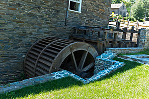 Peirce Mill - Image: Peirce Mill Water Wheel
