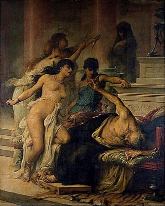Pelias - The Murder of Pelias  by His Daughters., Georges Moreau de Tours (1878)