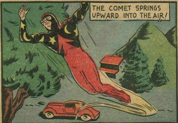Pep Comics panel