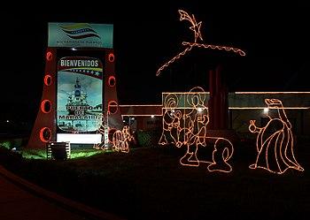 Pesebre en la entrada del puerto de Maracaibo V.jpg