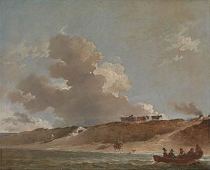 Coastal Landscape with a Ferry Boat