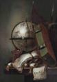 Petrus Schotanus - Vanitasstilleven met hemelglobe en bijbel.webp