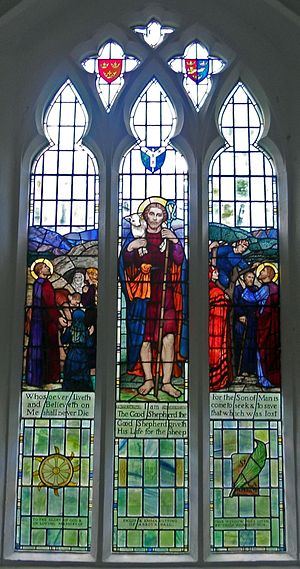 Joan Howson - Stained Glass Window in Pettaugh Suffolk by Caroline Townshend and Joan Howson