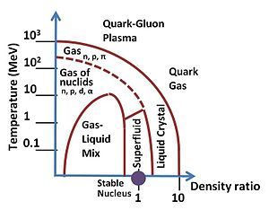 Quark–gluon plasma - Image: Phases of Nuclear Matter