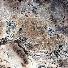 Uma foto tirada do espaço da área de Phoenix