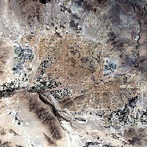 Landsat 7 Satellite image of the Phoenix Metro...