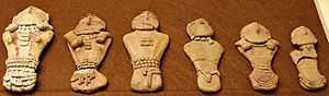 Pilling Figurines - Pilling Figurines in the CEU Prehistoric Museum.