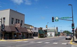 Pine City, Minnesota - Downtown Pine City