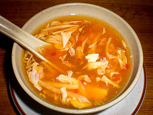 Hot and sour soup - Image: Ping SJ hot & sour soup