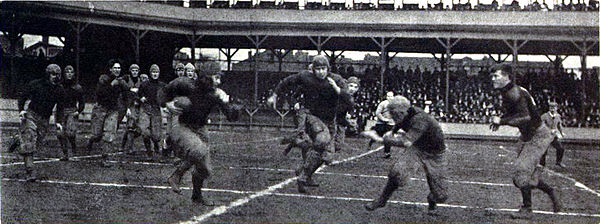 Pitt beat West Virginia 11-0 in this November 11, 1908 game at Exposition Park PittWVUatExpoPark1908.jpg