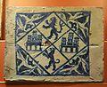 Placa d'entrebigat, Manises, procedeix del palau dels senyors de Patraix, museu de Ceràmica de València.JPG
