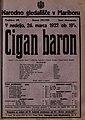 Plakat za predstavo Cigan baron v Narodnem gledališču v Mariboru 26. marca 1922.jpg