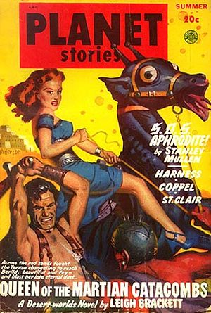"Eric John Stark - Eric John Stark debuted in ""Queen of the Martian Catacombs"", the cover story for the Summer 1949 issue of Planet Stories"