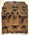 Plaque, possibly 1500s-1600s, Guinea Coast, Nigeria, Benin kingdom, Edo people, brass - Cleveland Museum of Art - DSC08729.JPG