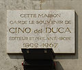 Plaque Cino del Duca, 26 boulevard des Italiens, Paris 9.jpg