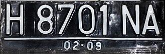 Vehicle registration plates of Indonesia - Image: Plat Nomor Semarang Dan Sekitarnya