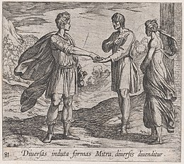 Plate 81- Erysichthon Selling his Daughter (Diversas induta Mitra diversis divenditur), from Ovid's 'Metamorphoses' MET DP866522.jpg