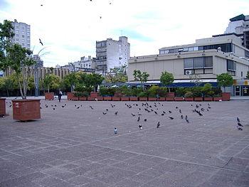 El centro de la Plaza Montenegro