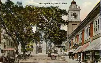 Neighborhoods in Plymouth, Massachusetts - Plymouth Center as it appeared in 1910