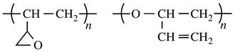 IUPAC polymer nomenclature - polyalkylene:vinyloxirane (left) and polyether:vinyloxirane (right)