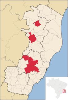 Municipalità dello stato di Espírito Santo (Brasile) dove il dialetto pomerano orientale è co-ufficiale.
