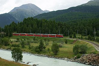 Bernina Express - Near Pontresina
