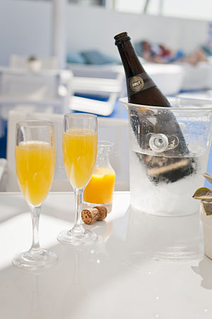 Mimosa (cocktail) - Two Mimosas