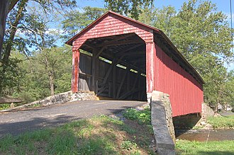 Pool Forge Covered Bridge - Image: Pool Forge Covered Bridge Three Quarters View 3008px