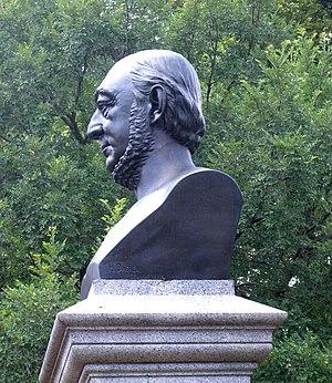 College Point, Queens - Bust of Conrad Poppenhusen