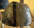 Populonia, necropoli di poggio del molino o del telegrafo, elmo a calotta con decoro a sbalzo, IX-VIII secolo ac. 01.JPG