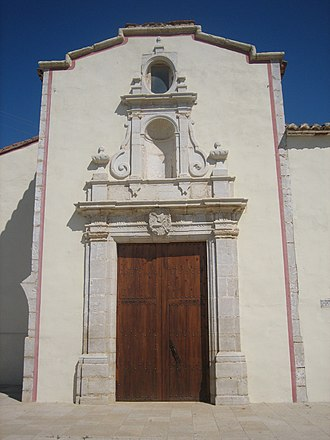 Vinaròs - Baroque facade of San Gregorio de Vinaròs.