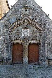 The doors of the Church of Saint-Golven, in Taupont